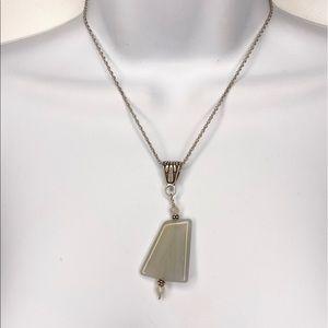 Lia Sophia Stone Abstract Boho Pendant Necklace